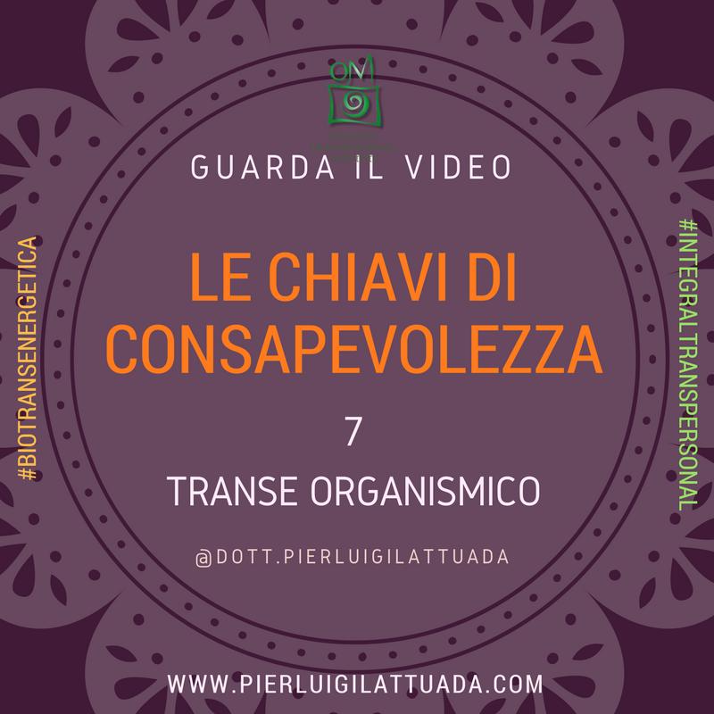 Chiavi di Consapevolezza 7 –  Transe Organismico